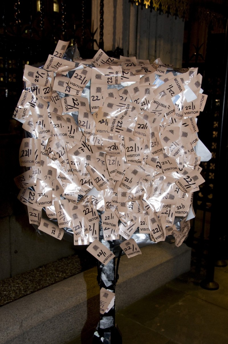 VISITORS PASSES LEFT AT THE HOUSES OF PARLIAMENT