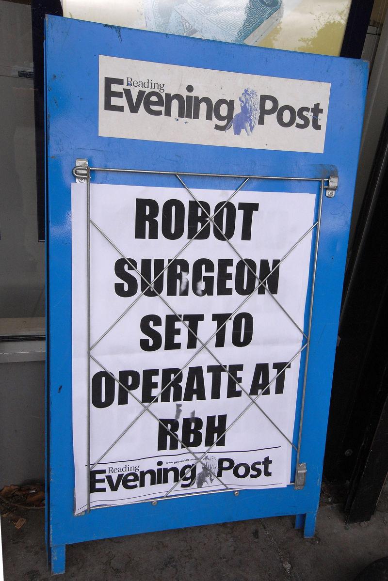 ROBOT SURGEON SET TO OPERATE AT RBH
