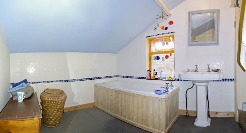 MARY'S NEW BATHROOM, NEARLY FINISHED