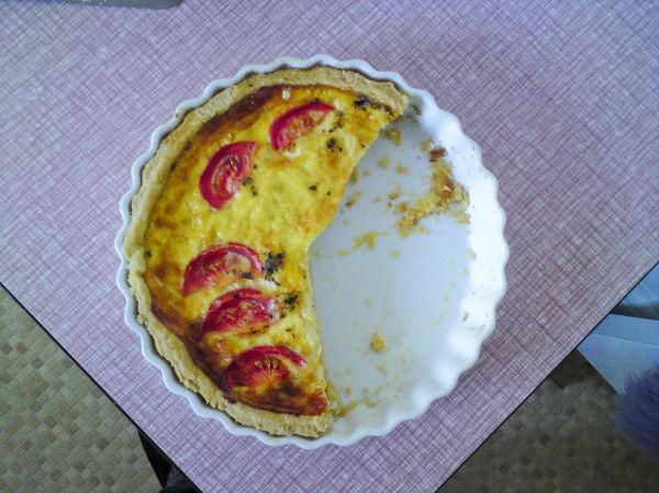 PART OF MY MUM'S QUICHE