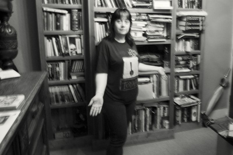 DIANE IN HER LIBRARY
