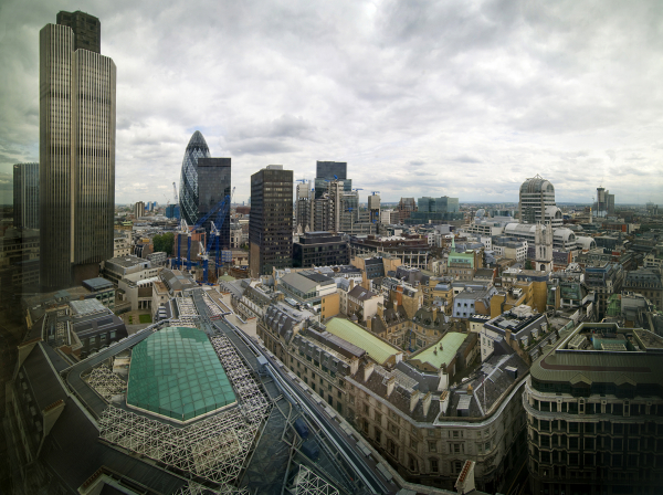 THE CITY FROM THE 18TH FLOOR OF 125 OLD BROAD ST