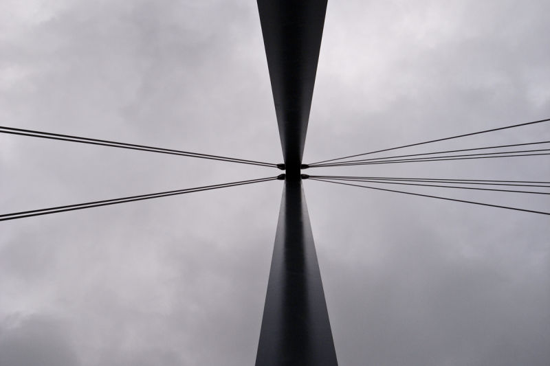 PART OF THE NEW FOOTBRIDGE AT JUNCTION 11