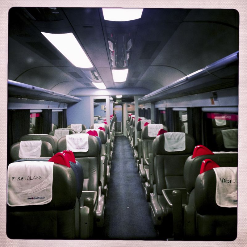 FIRST CLASS ON THE 6.30PM FROM PADDINGTON