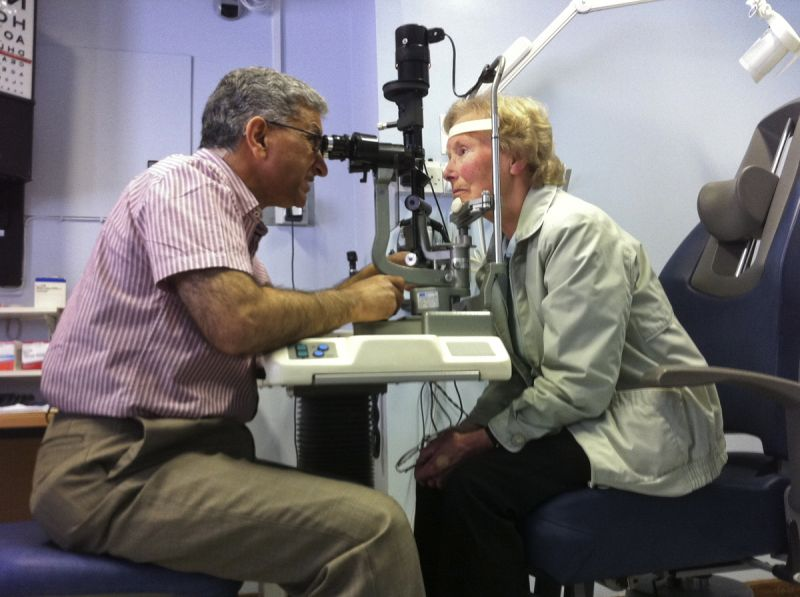 MY MUM GETTING HER EYES CHECKED OUT