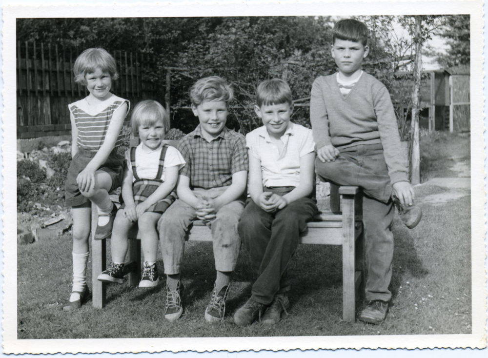 SUSAN, MARY, ME, CHRIS AND ANDREW, 1964