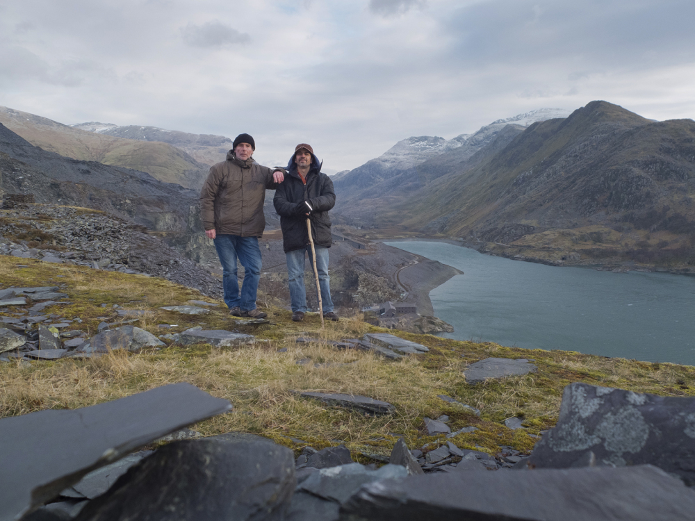 ME AND TIM WITH SNOWDON IN THE BACKGROUND