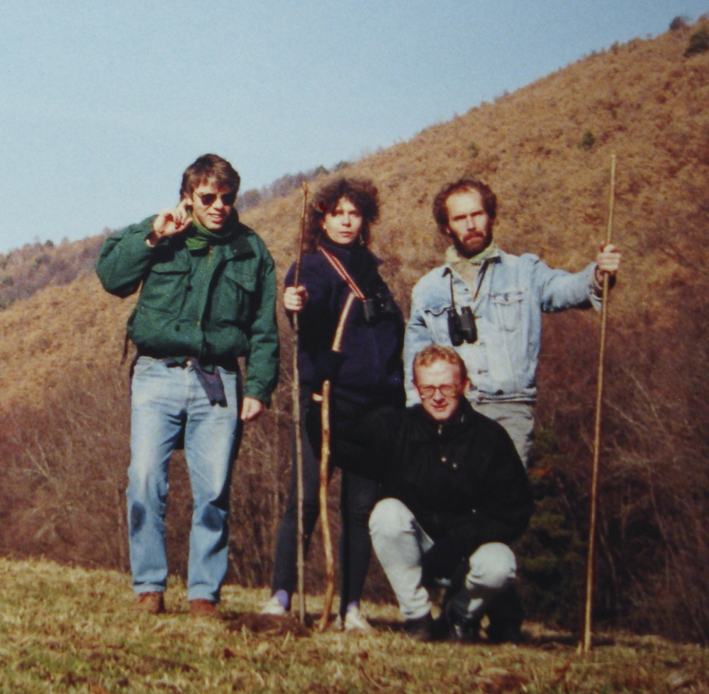 SPANISH BOB, NICOLA,ME AND ANTHONY, 1990