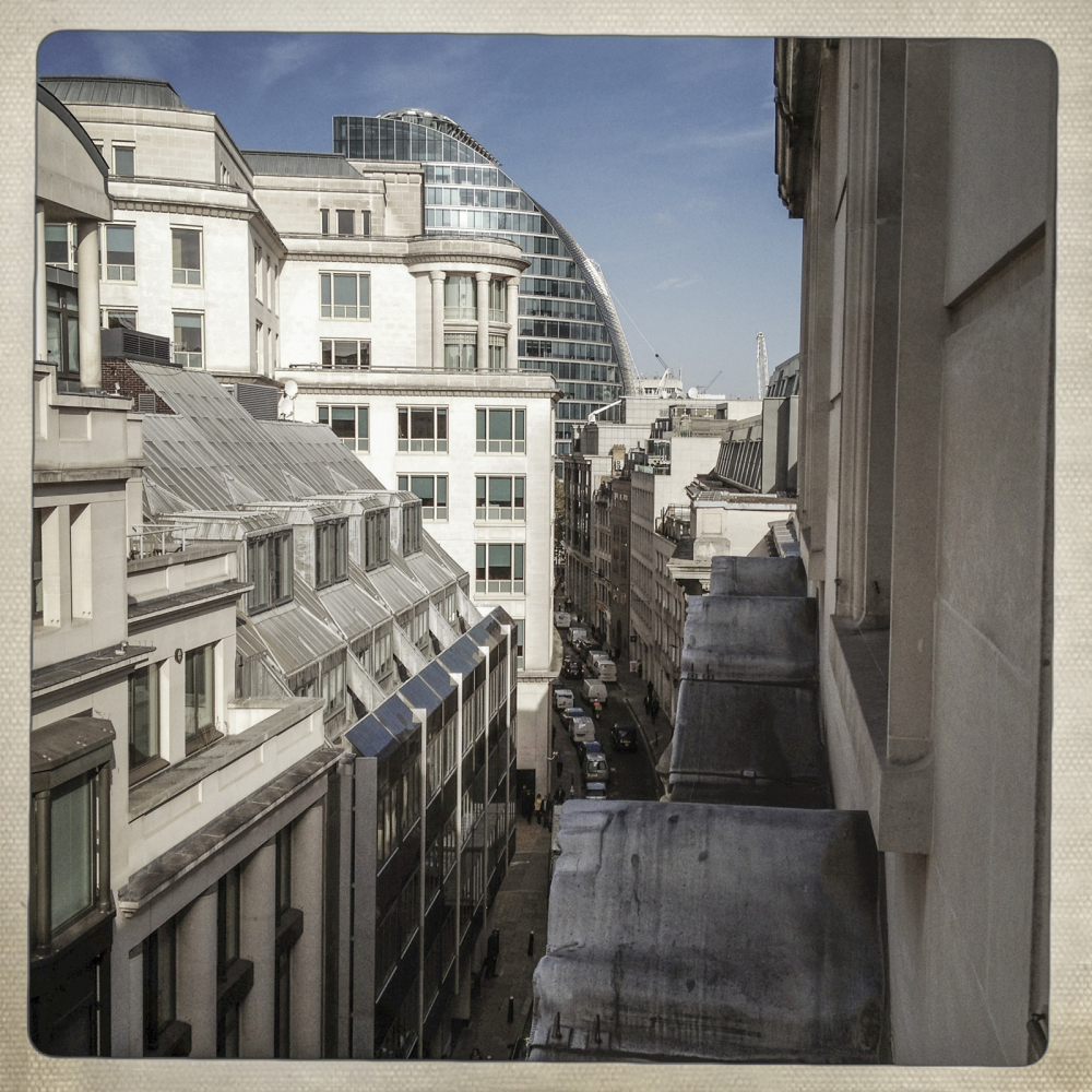 OUT OF THE WINDOW OF 7-11 MOORGATE