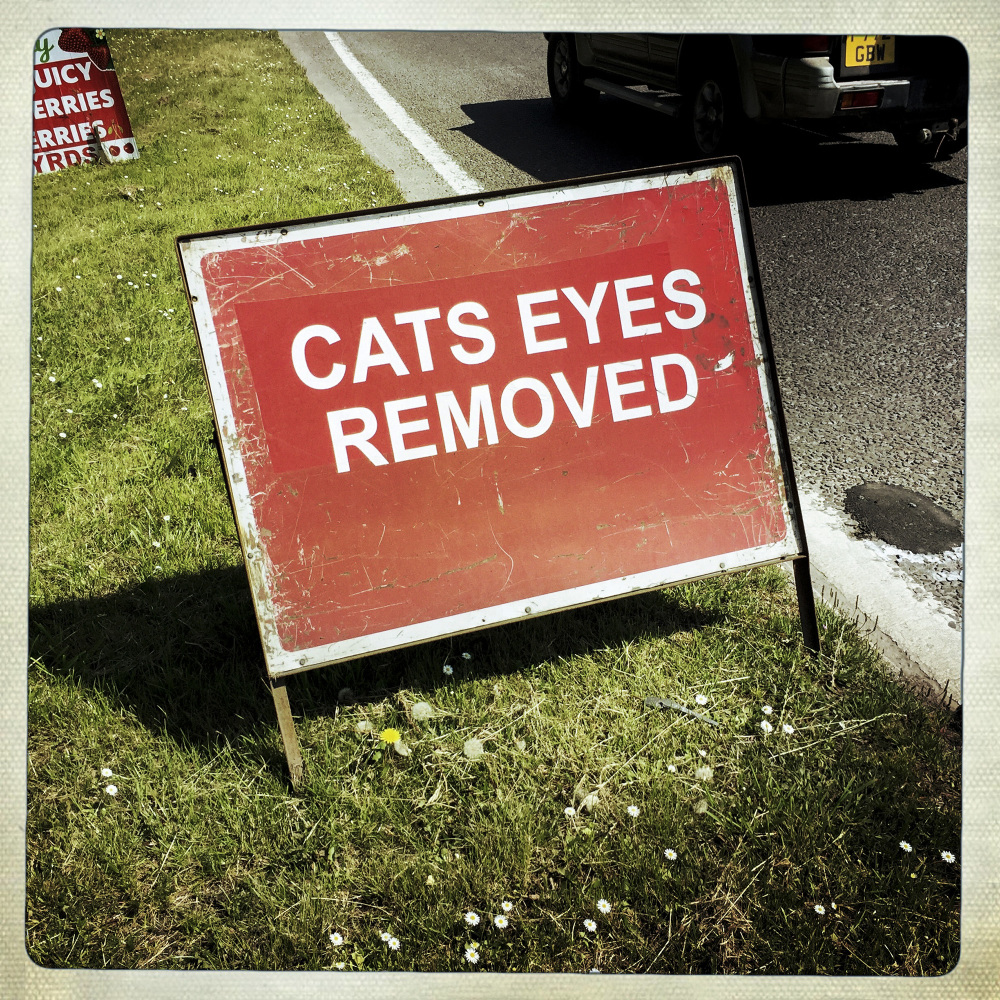 CATS EYES REMOVED