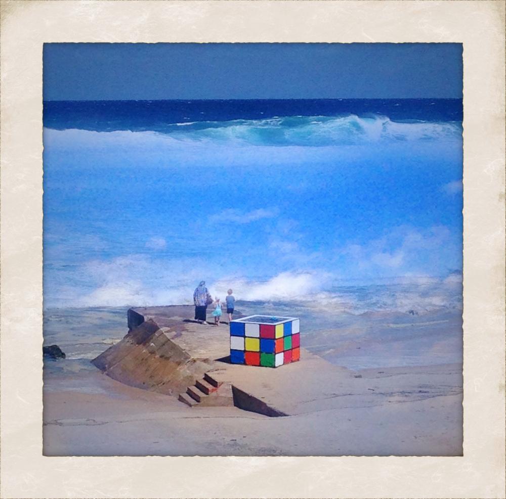 Cube on the Beach