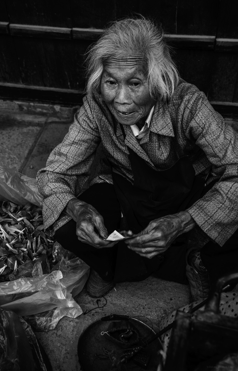 Old Woman Street Vendor, Pudong - Shanghai