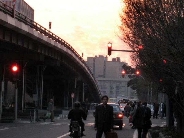 The dusk in Karimkhan Street.