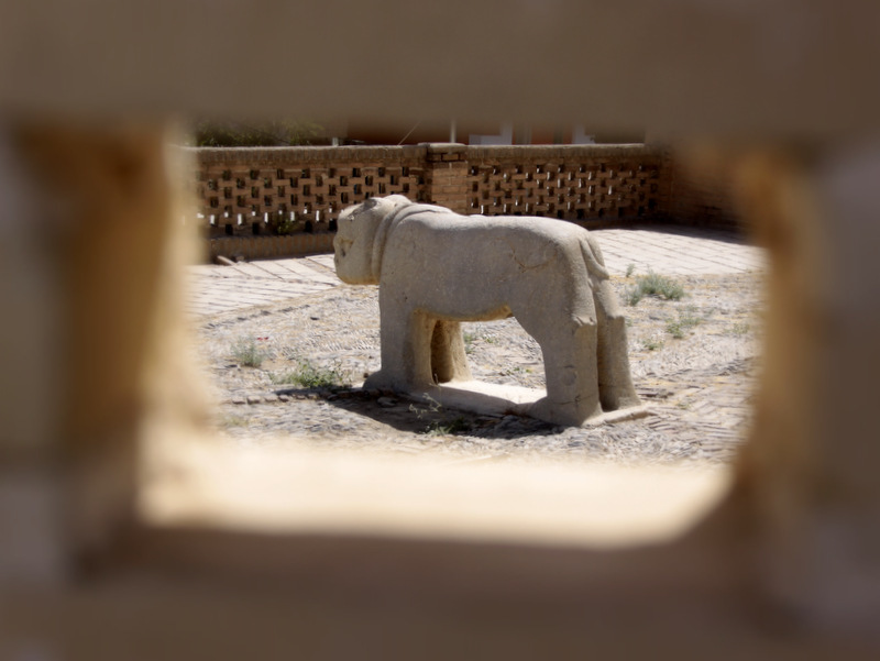 Stone Lion In Golpayegan  شیر سنگی در شهرستان گلپا