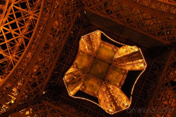 Eiffel from the bottom