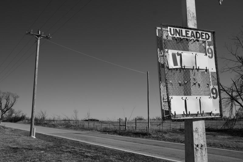 Roadside abandoned gas station