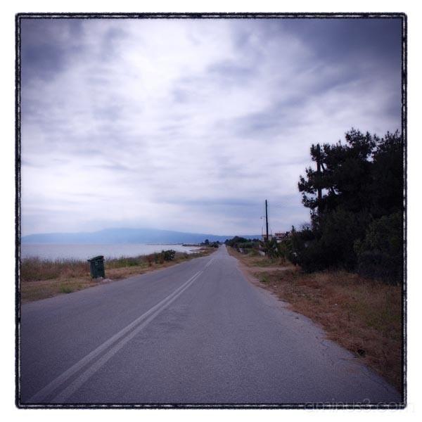 road sky sea