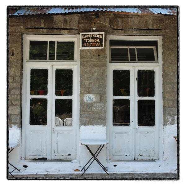 coffe shop voulgareli epirus greece krikis