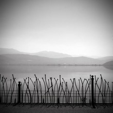fence lake ioannina  greece