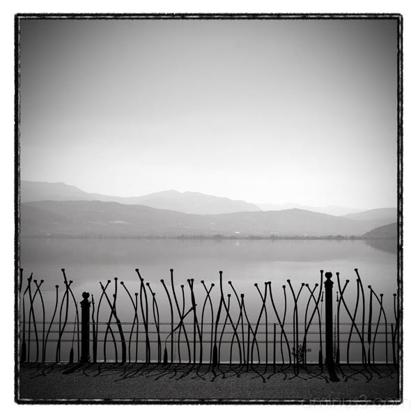 fence lake ioannina  greece