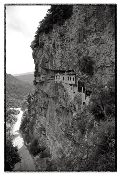 rock mountain monastery