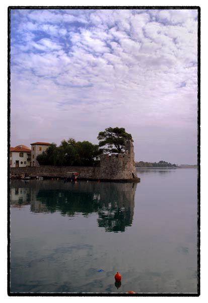 port sea castle sky clouds