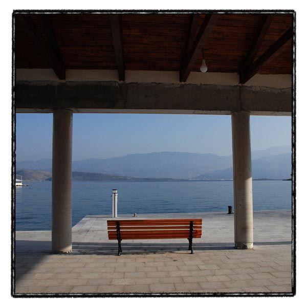 bench sea sky
