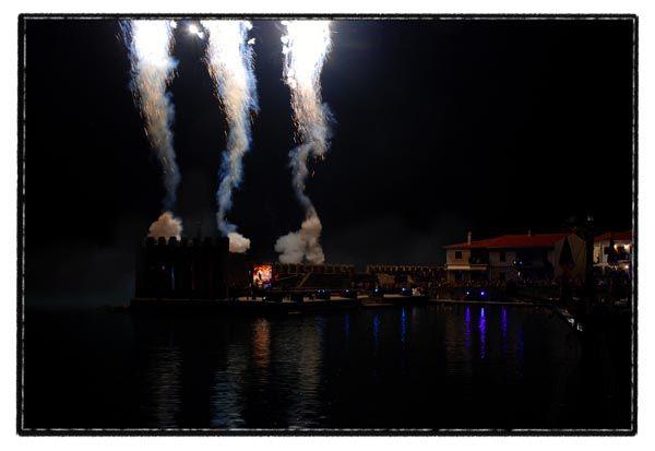 castle sea smoke