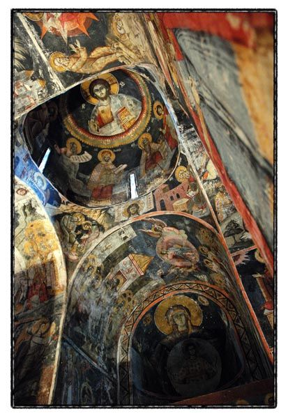 painting church agios germanos prespa