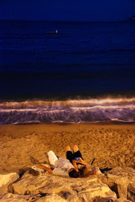 nightfall at the beach  V