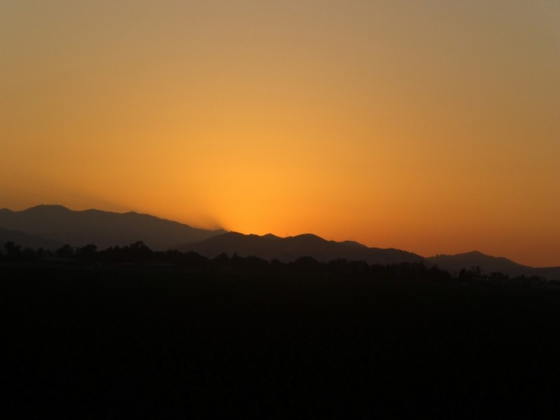 Sunset in Gilroy, CA
