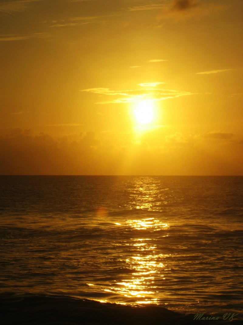 Cure beach, North Carolina, sunrise...