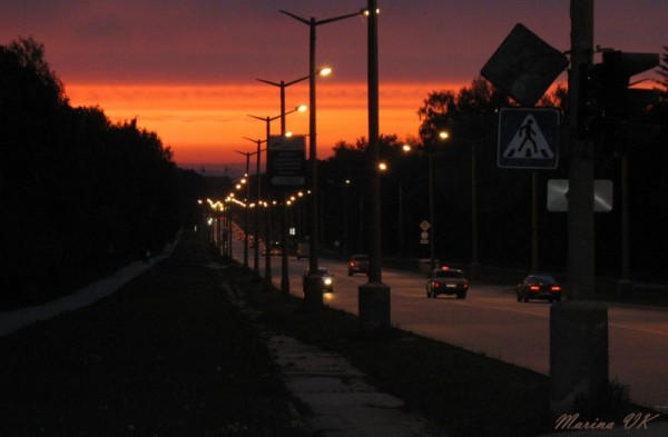 Novosibirsk, Russia - sunset in Akademgorodok