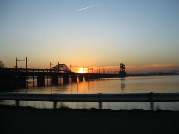 Sunset at the ballgame- Jersey City, NJ