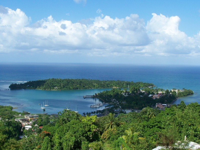 Port Antonio town capital landscape rural Portland