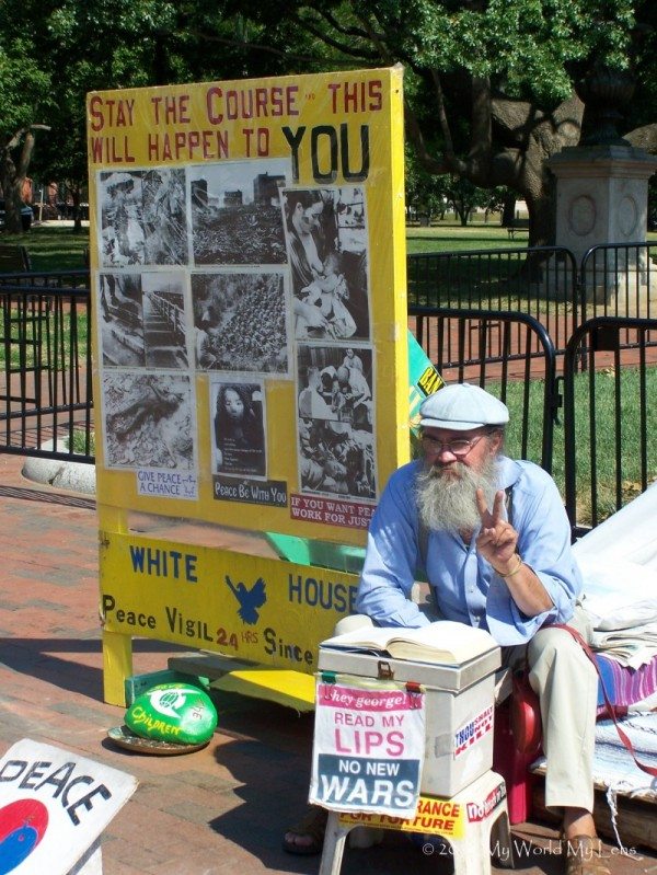 DC: One Man Peace Protest