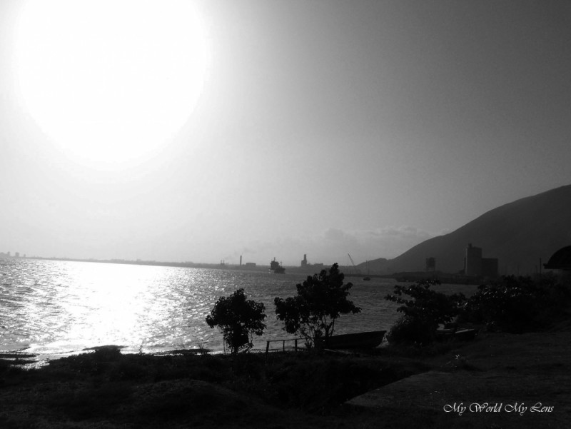 Kingston Harbour In Black and White
