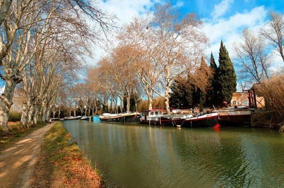 Béziers, france, Canal du Midi