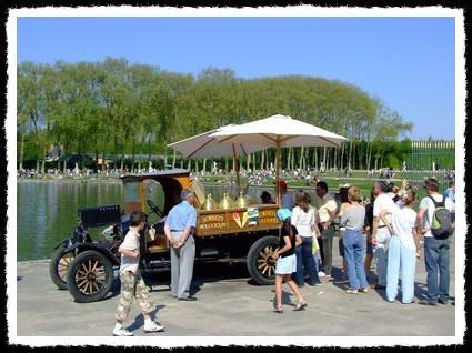 Versailles. Dans le parc du chateau