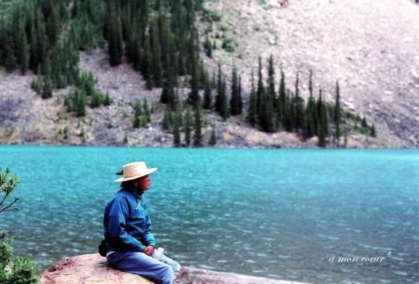Lake and Woman