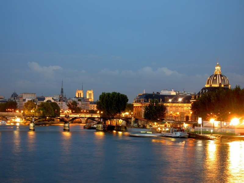 paris night Seine france