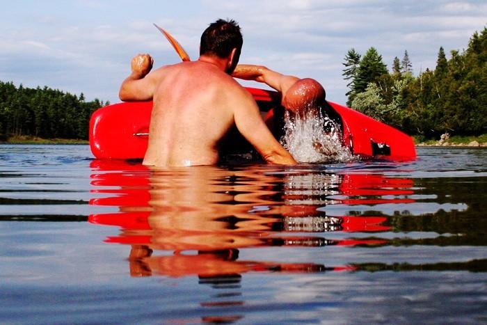 kayaking at the ottawa river