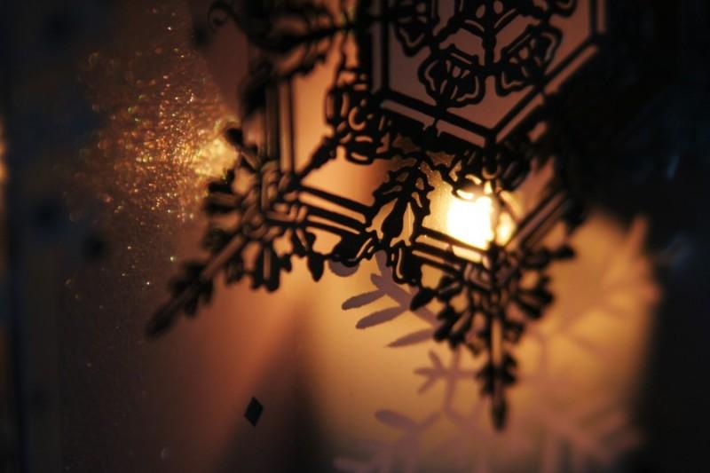 christmas candle glow