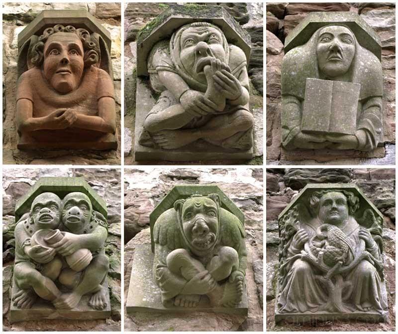 Funny Faces Gargoyles Rufford