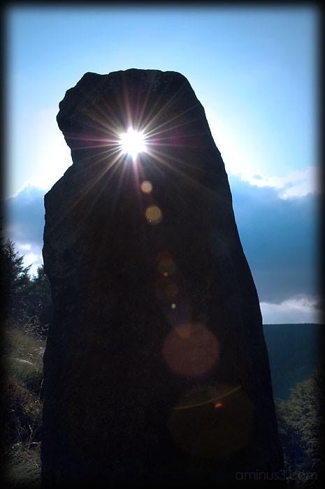 sunlit stone
