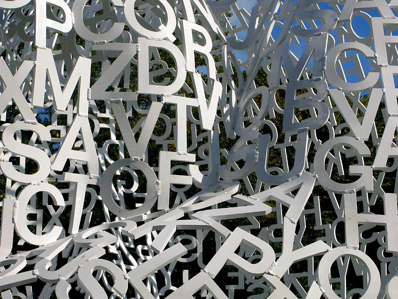 Art Sculpture Letters