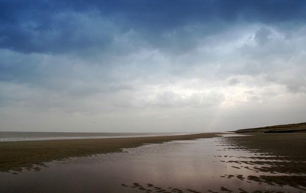 Alone on a beach