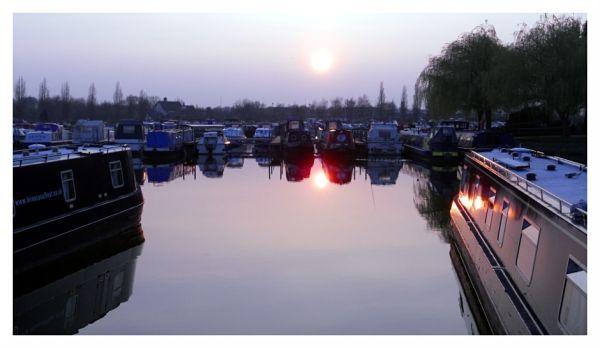 Sunset, Sawley Marina