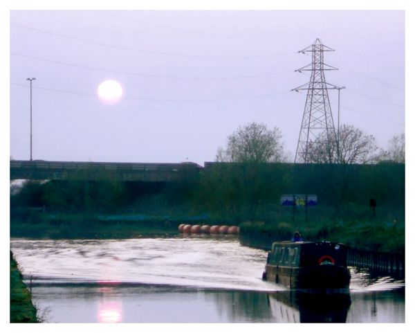 Narrowboat on River Trent
