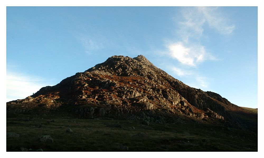 Tryfan wales north mountain sunset